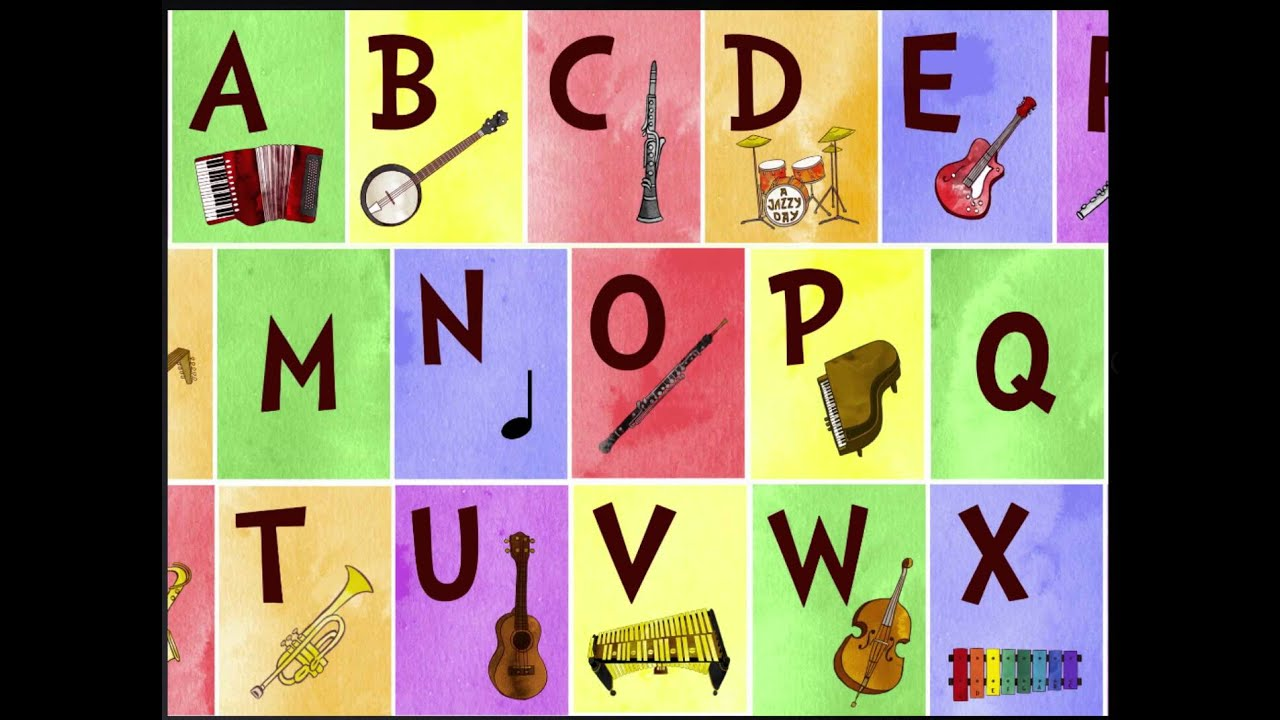 Jazzy ABC app for iPhone/iPad - Letters and musical instruments ...
