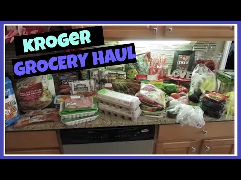 Weekly Kroger Grocery Haul + WEEKLY MEAL PLANNNG   February 2017