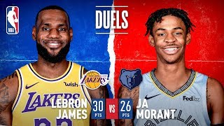 LeBron James and Ja Morant Duel in Memphis!