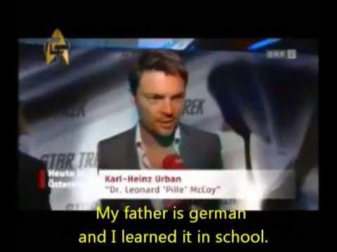 Karl Urban Speaks German