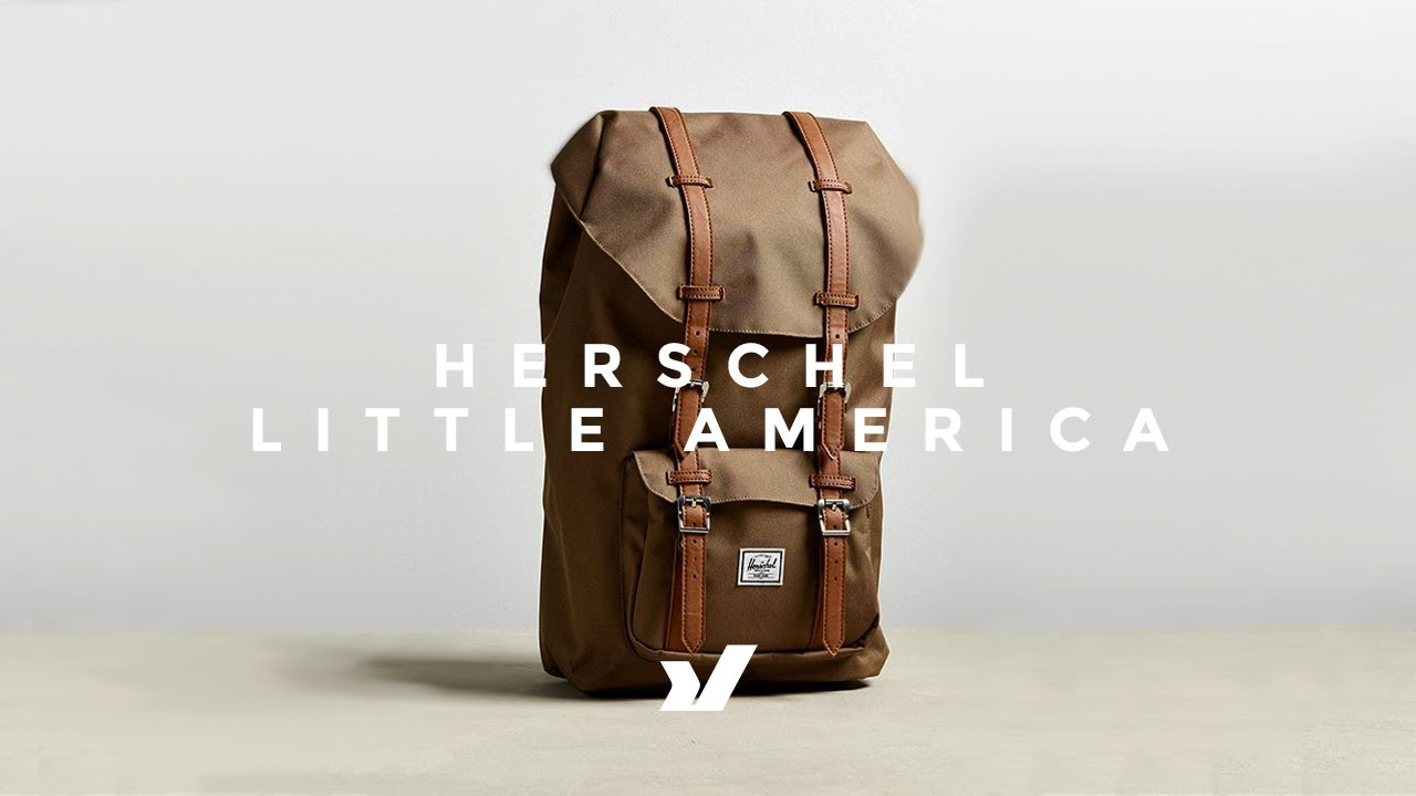 The Herschel Little America Backpack - YouTube 0aea6b8ebe262