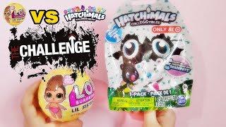LOL Confetti POP Lil sisters vs hatchimals collEGGtibles Challenge