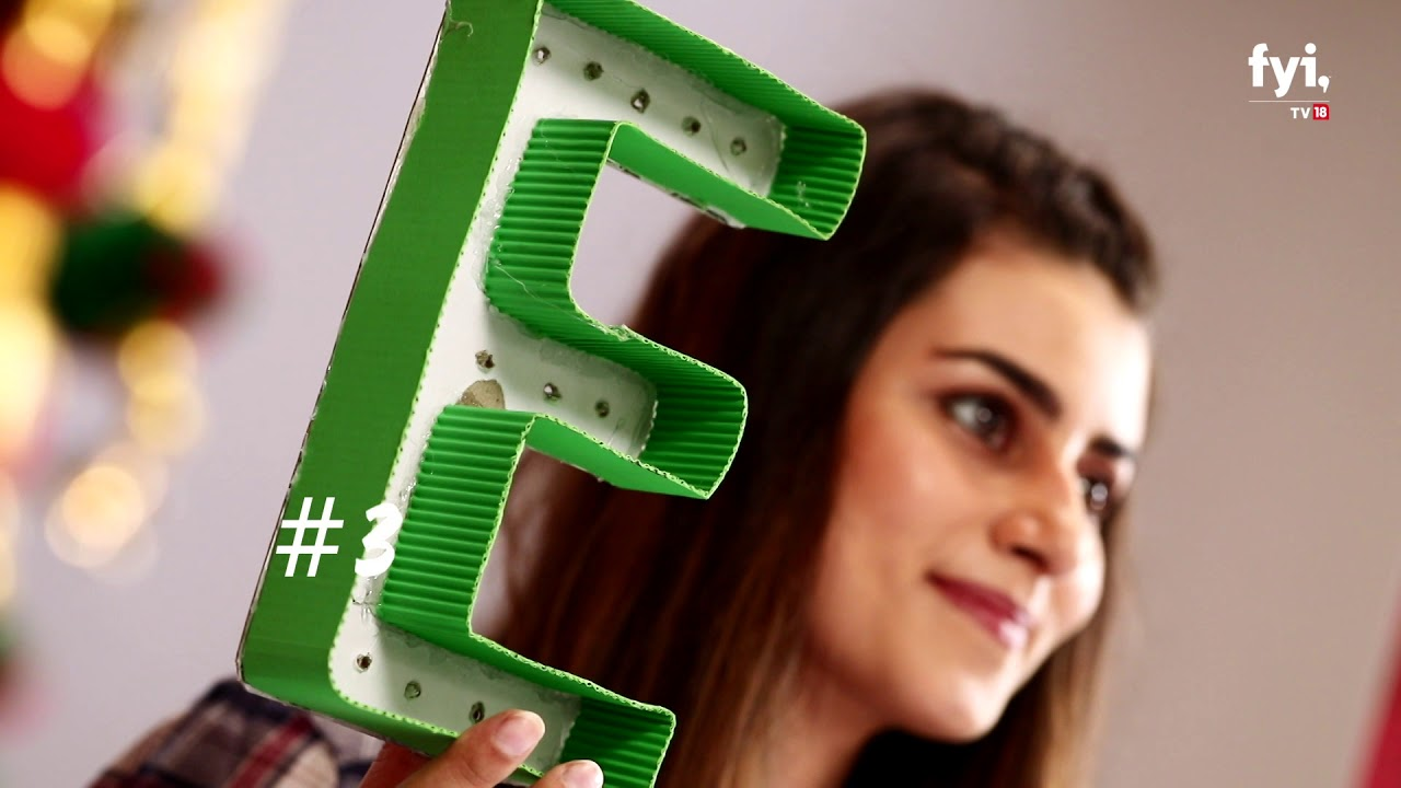 DIY with Sabrina: Light Up Letters
