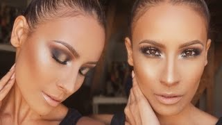 How to: TOP KNOT & Sultry Gold Smokey Eye - Desi Perkins thumbnail
