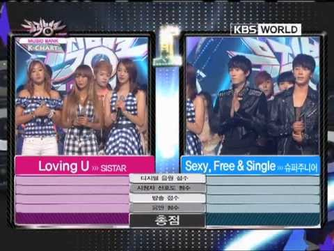 [Music Bank K-Chart] 2nd week of July & SISTAR - Loving U (2012.07.13)