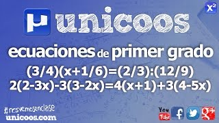 Ecuaciones de primer grado SECUNDARIA (2ºESO) matematicas