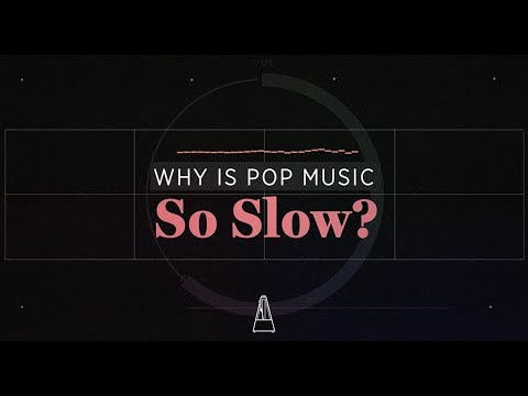 Why is Pop Music So Slow?