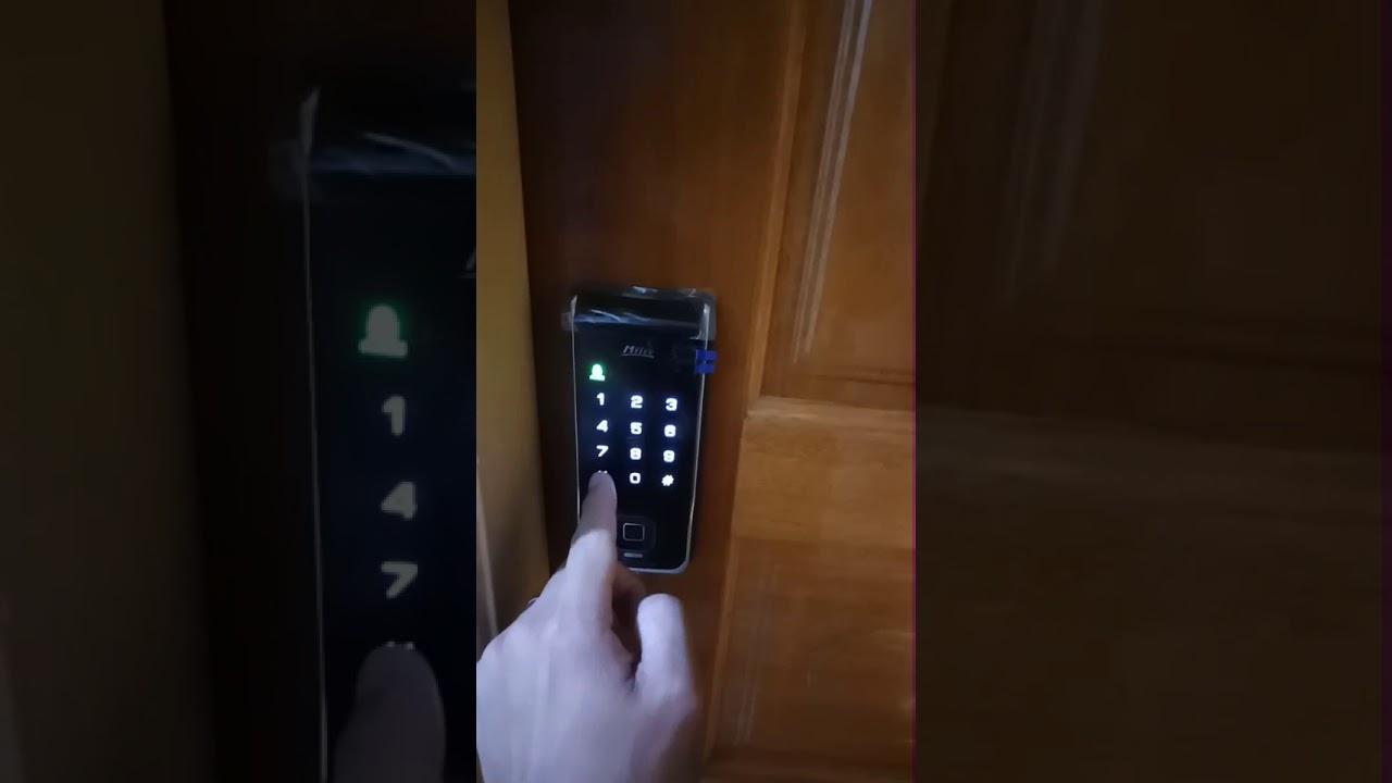 指紋/卡片/密碼三合一電子鎖 (中文語音功能)