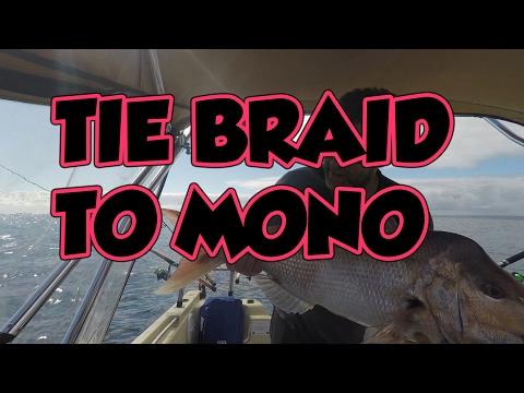 Double Uni Fishing Knot - Braid to Mono in 4k