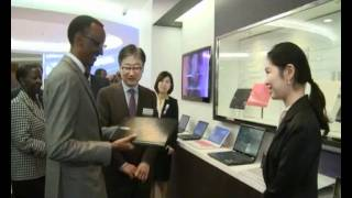 President Kagame visits Samsung Electronics- Seoul-South Korea, 2 December 2011