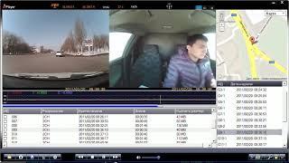 Видеорегистратор с GPS и двумя камерами Eken R300 JPlayer тест(Тестовое видео видеорегистратора, изображение снято с монитора внешний вид программы JPlayer, качество видео..., 2012-03-05T09:31:35.000Z)
