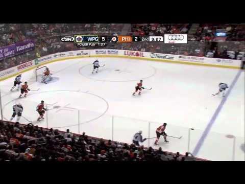 Winnipeg Jets @ Philadelphia Flyers Highlights 10/27/11