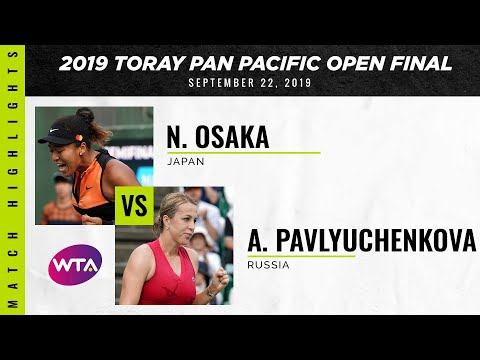 Naomi Osaka vs. Anastasia Pavlyuchenkova | 2019 Osaka Final | WTA Highlights