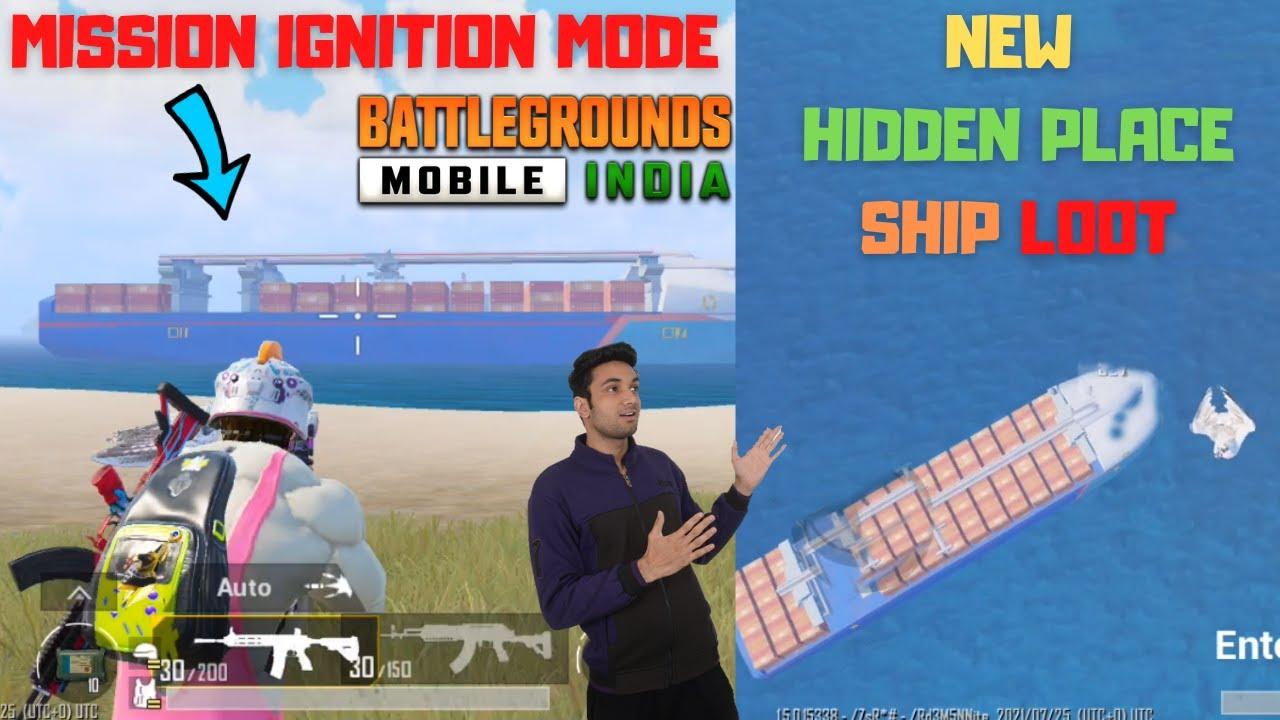 New Hidden Place In Erangel Map BGMI Best Loot Hidden Ship In Mission Ignition mode