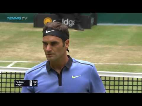 Fed Express! Roger Federer incredibly short service game | Halle 2017