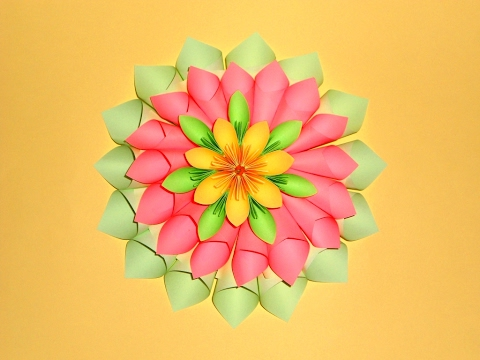 Цветы из бумаги большие для поделки