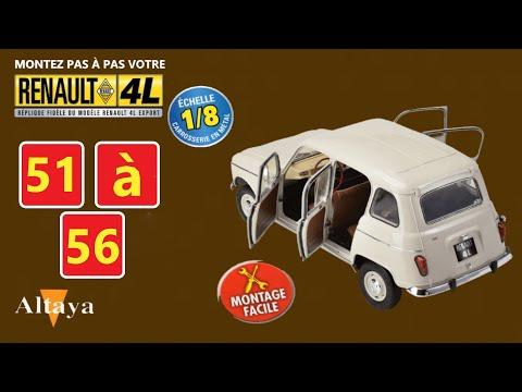 RENAULT 4L Export 1/8 N°51à56 d'Altaya comment la monter