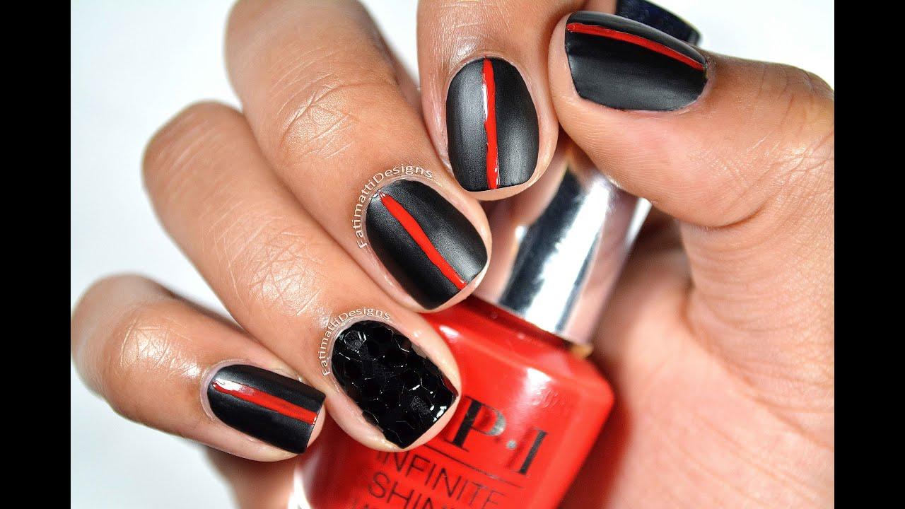 Diy Matte And Textured Black Widow Inspired Nail Art