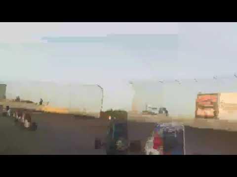 NWFMS Willamette Speedway restart crash (2 LAPS TO CHECKERED)