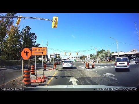 Driving in Toronto - Eglinton Ave from Bayview Ave to Scarlett Rd (FRONT DASH CAM ONLY)