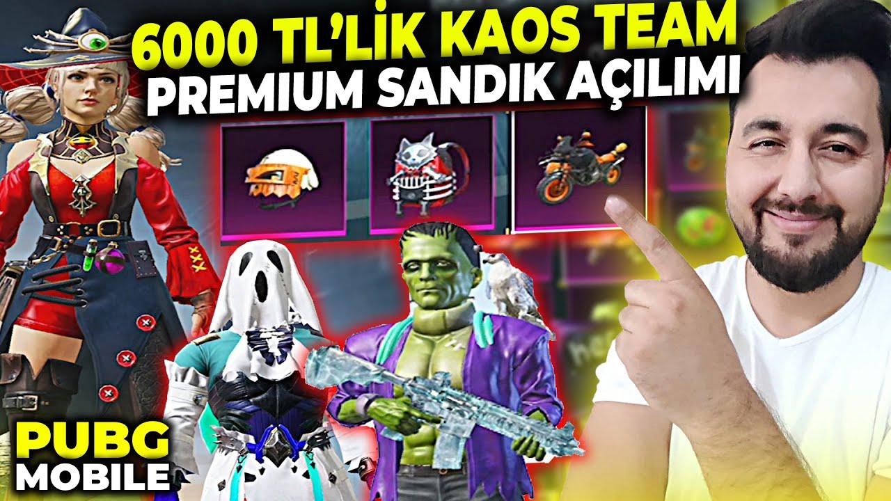 6000 TL'LİK KAOS TEAM PREMİUM SANDIK AÇILIMI!! / PUBG MOBILE KUTU AÇILIMI
