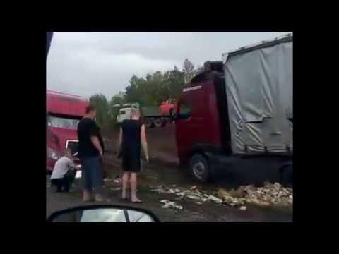 Samara Truck Car Crash Krick Spedition Angle 6