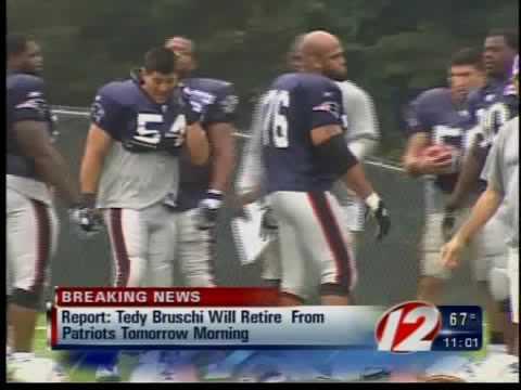 New England Patriots LB Tedy Bruschi retiring