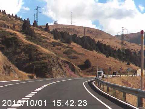 CG-2 road uphill to Camí Port d'Envalira Andorra dashcam video