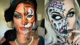 Easy Halloween Makeup Tutorial | Smokey Skull (part-2)