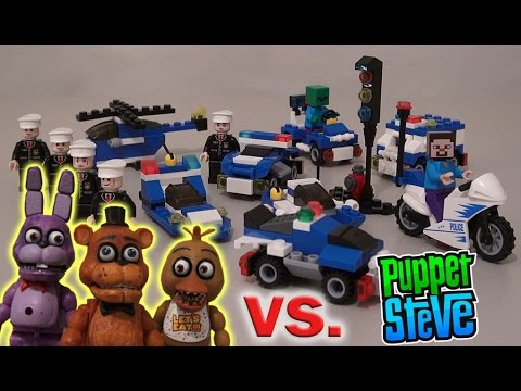 Five Nights at Freddy's Fnaf VS. NewIsland Lego Police Unboxing review