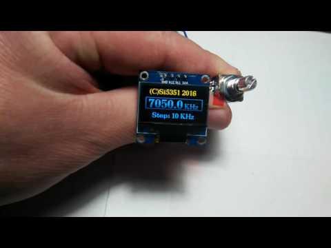 Arduino+Si5351+TFT 096