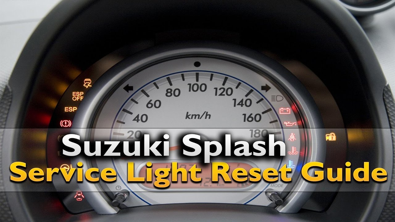 Suzuki Splash Service Light Reset