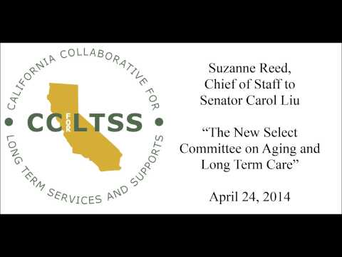 Suzanne Reed describes the Senate Select Committee on Aging and Long Term Care