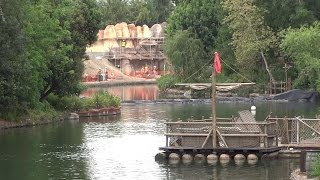 Rivers of America refilled, Railroad construction update at Disneyland
