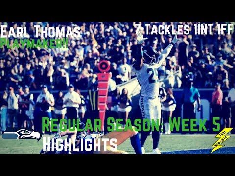 Earl Thomas Week 5 Regular Season Highlights Playmaker!   10/08/2017