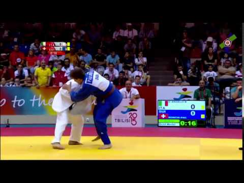 European Youth Olympic Festival Tbilisi 2015 Final -50kg D ANGELO (ITA) Vs. RONCHI (SUI)