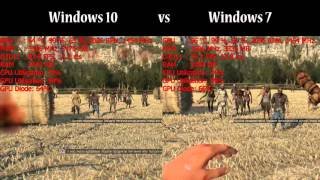 Dying light the following Windows 10 vs Windows 7