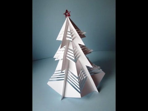 3d weihnachtsbaum aus papier basteln youtube. Black Bedroom Furniture Sets. Home Design Ideas