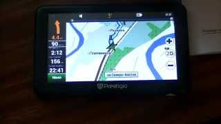 Prestigio GEOVSION 5050 GPS навигатор ОБЗОР