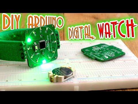 Homemade Arduino Digital Watch   Internal 8MHz Clock