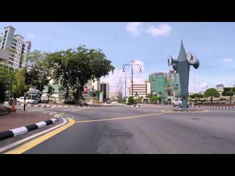 Brunei  Route vers Bandar Seri Bagawan, Gopro / Brunei  Road to Bandar Seri Begawan, Gopro