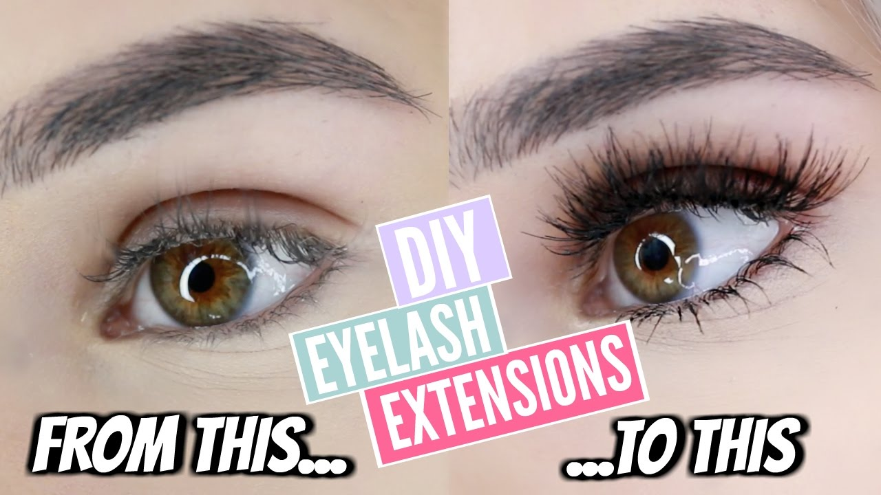 DIY: PERMANENT EYELASH EXTENSIONS AT HOME! - YouTube