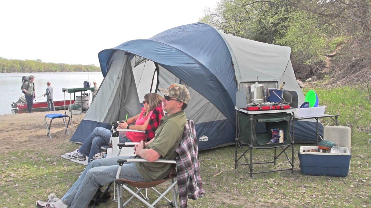 Ridgeway by Kelty Skyliner 14-person Tent & Ridgeway by Kelty Skyliner 14-person Tent - YouTube
