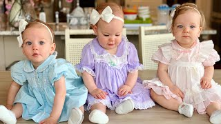 Girls Wear Jamie's Dresses - Getting 5 Babies Ready for Church