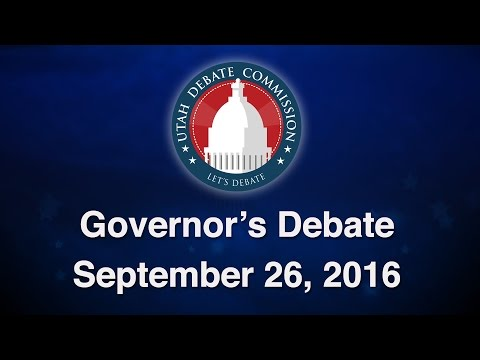2016 Governor's Debate between Gov. Gary Herbert & Mike Weinholtz