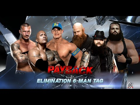 WWE-2K16-The Rock & John Cena & Randy Orton vs The Wyatt Fam