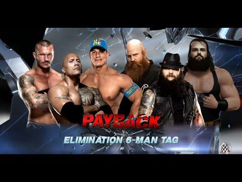 WWE-2K16-The Rock & John Cena & Randy Orton vs The Wyatt Family -Elimination Tag team Match