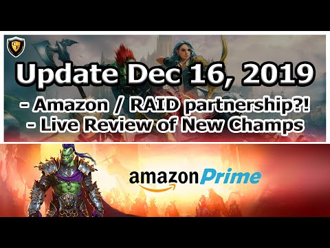 RAID Shadow Legends   Update Dec 16, 2019   Amazon Prime + Ultimate Galek?!