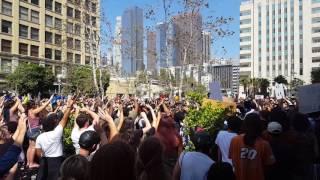 BLM LA sings 'We Shall Overcome'