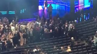 bts enters the microsoft theater fancam